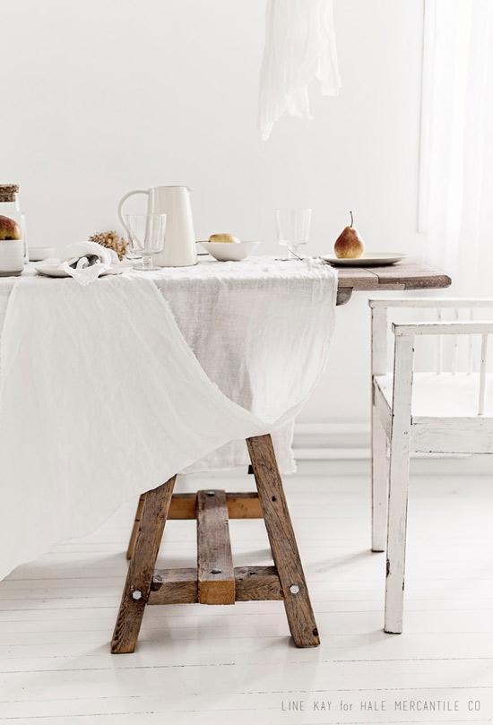 Caballete utilizado como soporte de mesa