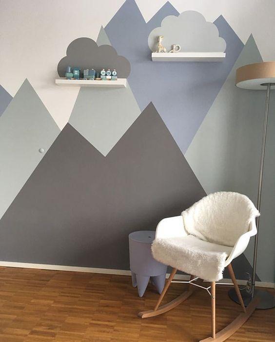 Como decoración Pinterest propone formas geométricas incluso para habitaciones de niños