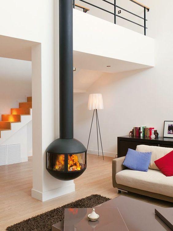 La decoración en Pinterest sugiere chimeneas modernas.