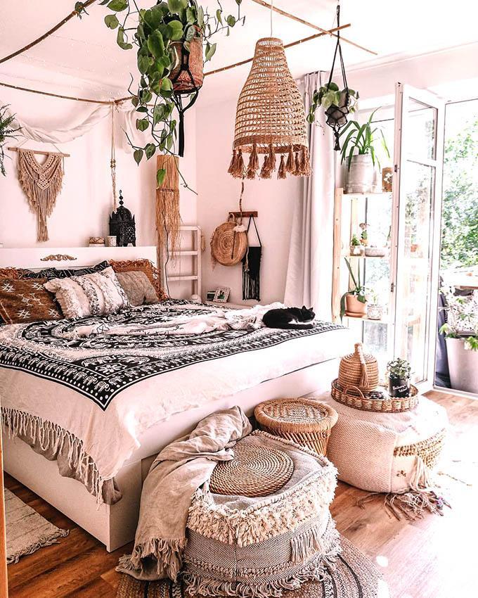 Como conseguir el dormitorio Boho Chic perfecto. No te pierdas nuestras ideas, plantas, nórdicos y textiles Boho