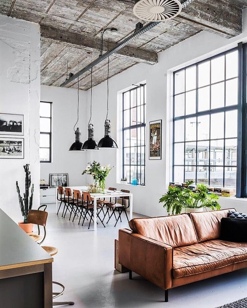 ¡Las claves de la Decoración industrial! Un salón de estilo industrial presenta diferentes matices modernos y Vintage