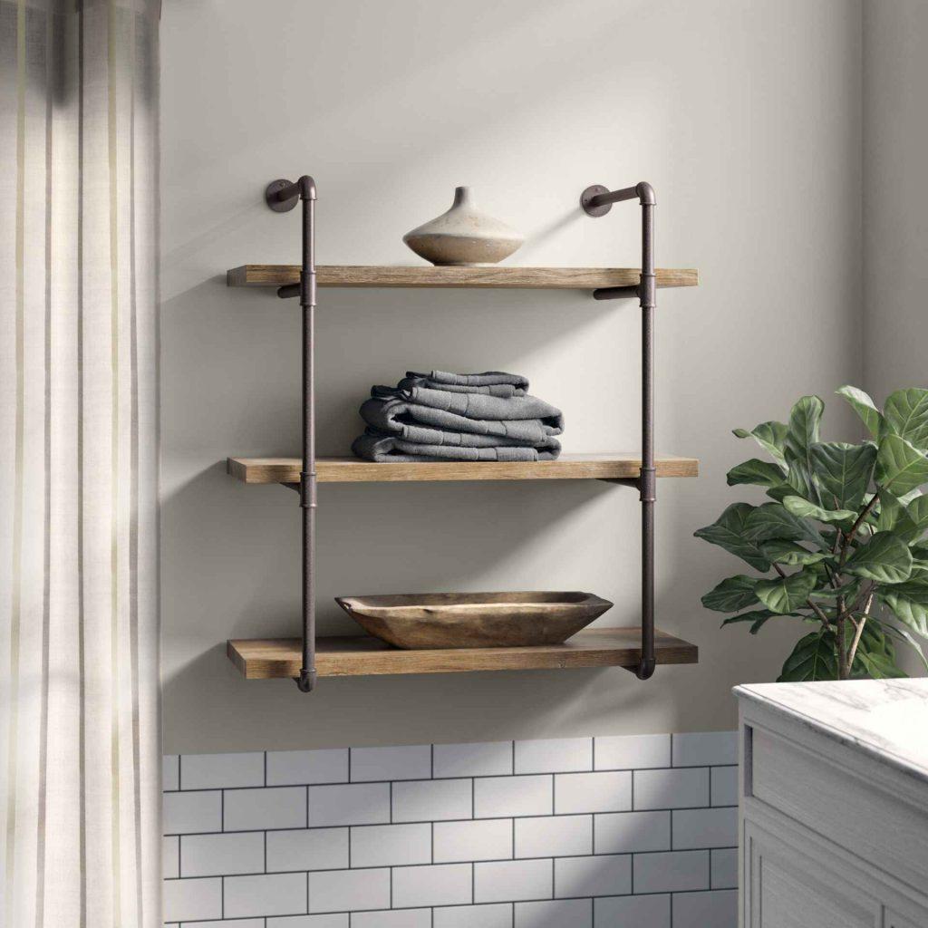 Las estanterías de tuberías permiten fácilmente darle un toque industrial a tu casa.