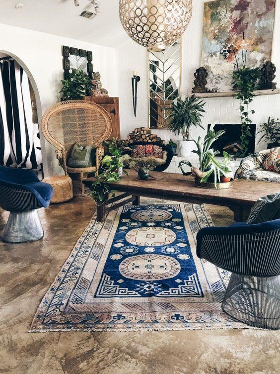 Salón con muebles Vintage