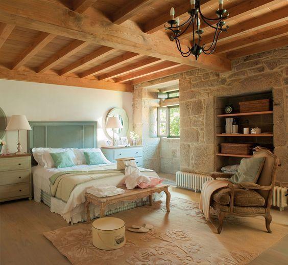 Habitación estilo rústico