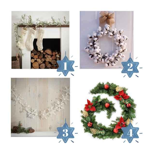 Guirnaldas decoración árbol de navidad