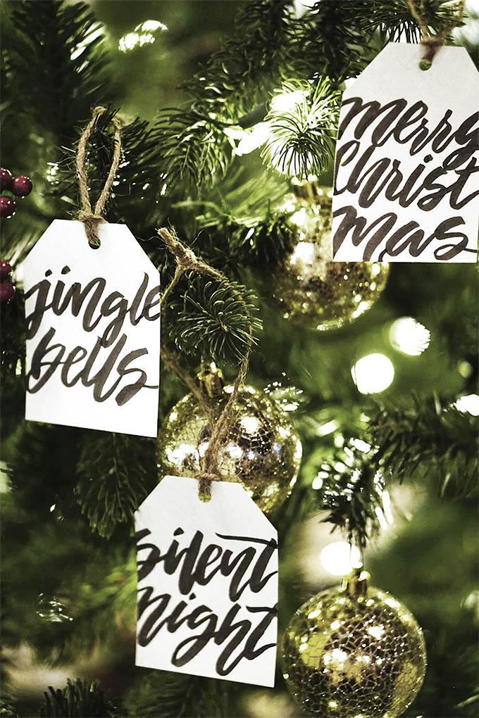 Etiquetas de adorno árbol de navidad
