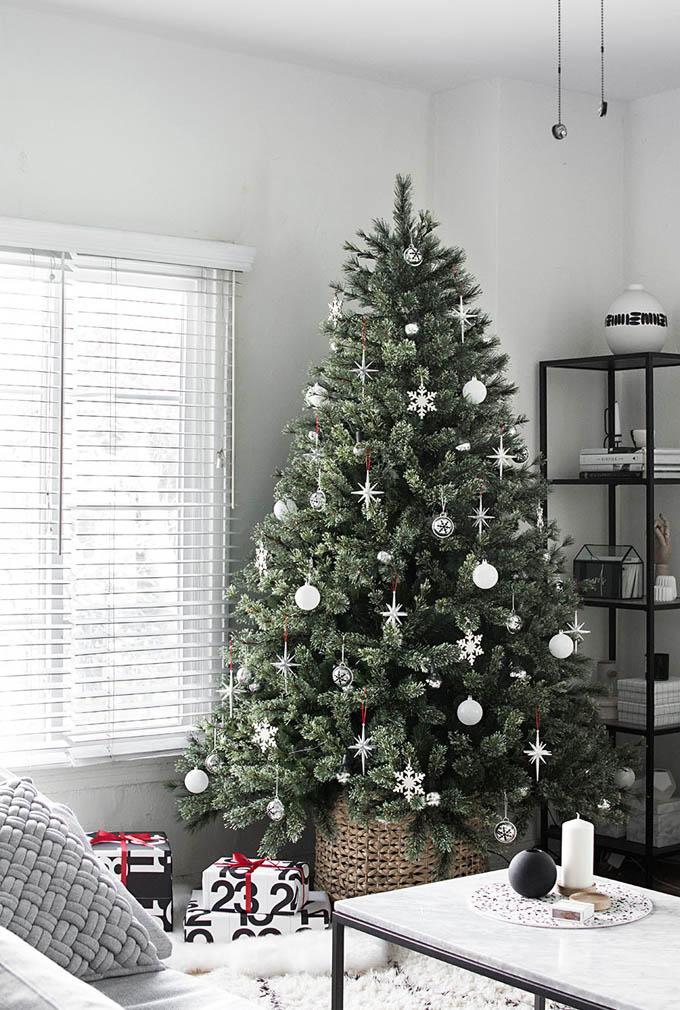 Pie decoración de árbol de navidad